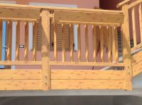 Holzlook Gelaender Ringhiera legno